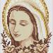 Virgen de la Asunción en punto de cruz